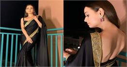 दीया मिर्जा ब्लैक साड़ी में दिखीं बेहद खूबसूरत, देखें तस्वीरें