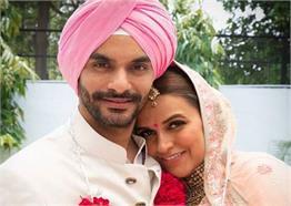 नेहा धूपिया की secret wedding की अनदेखी PICS