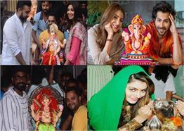 बॉलीवुड सितारों ने कुछ यूं किया अपने घर पर 'बप्पा' का स्वागत