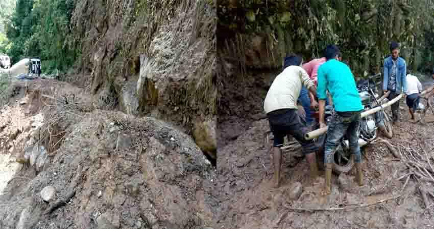 dehradun four buildings of gaadi village in danger due to landslide