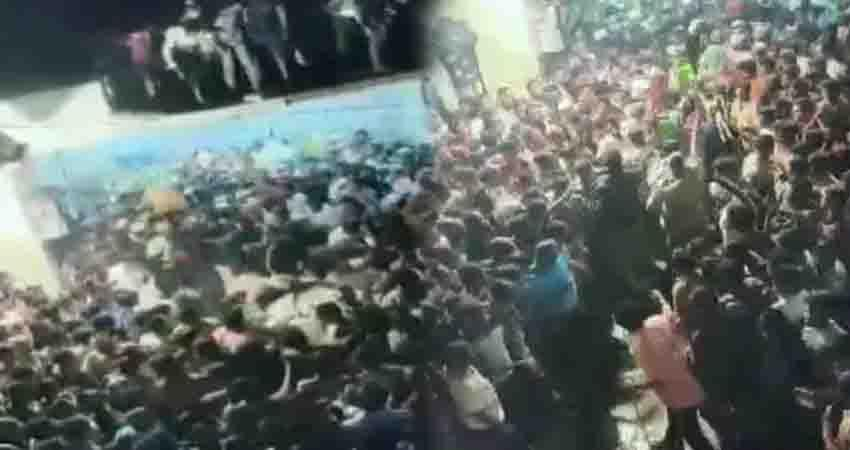 Andhra Pradesh roof collapses on Muharram procession 20 people injured video being viral