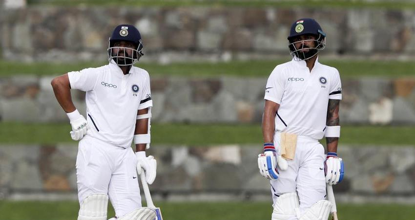 ind vs wi virat rahane hit a half century in the second innings team indias lead by 260 runs
