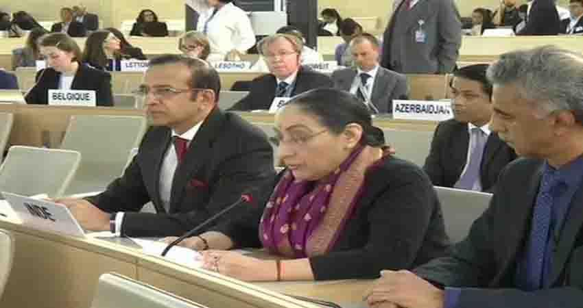 India gives Pakistan a befitting reply at UNHRC says Pakistan is running a factory of lies