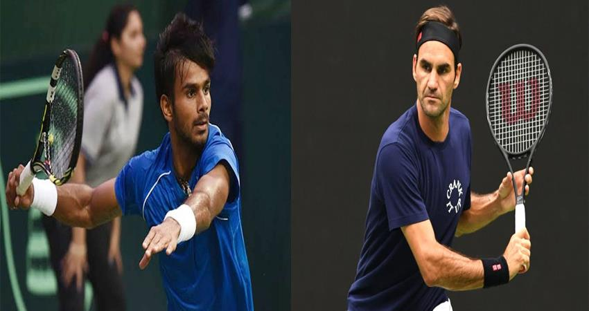 us open this young indian tennis player will face federer in the main round