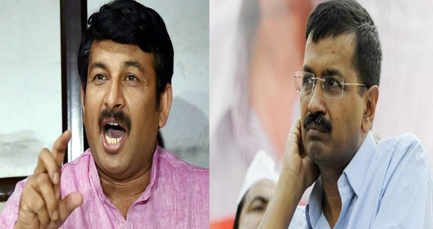 ravidas temple dispute manoj tiwari fires on aam aadmi party said temple will be built there