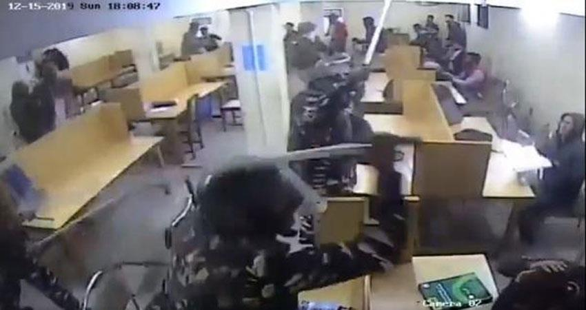 lathi charge in jamia library video goes viral, questions on delhi police