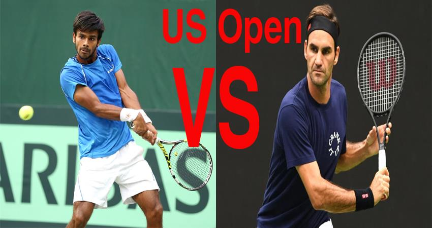 us open tennis todays 20 time grand slam winner federer will face indias sumit nagal