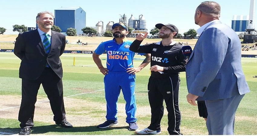nz won the toss and elected to ball first