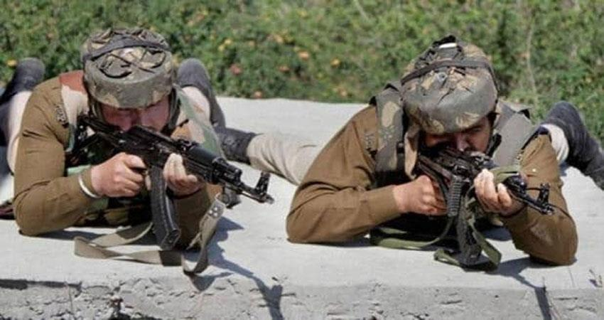 terrorists trapped in army search operation in kashmir firing continues