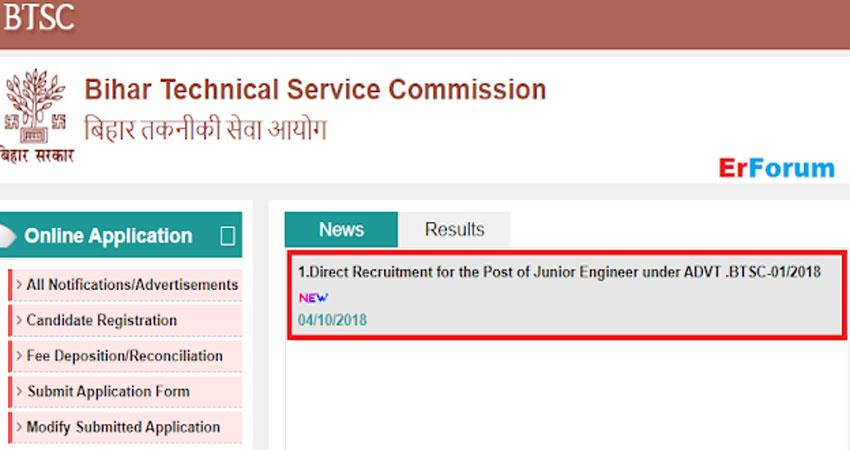various job vacancies in bihar technical services commission apply fast