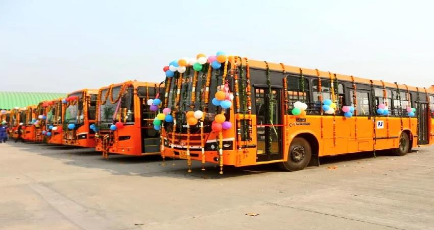 delhi government approves 160 low floor ac buses kmbsnt