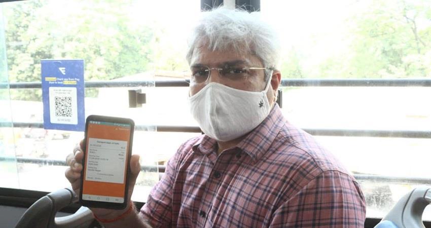 Delhi DTC Buses Charter App Social distancing KMBSNT