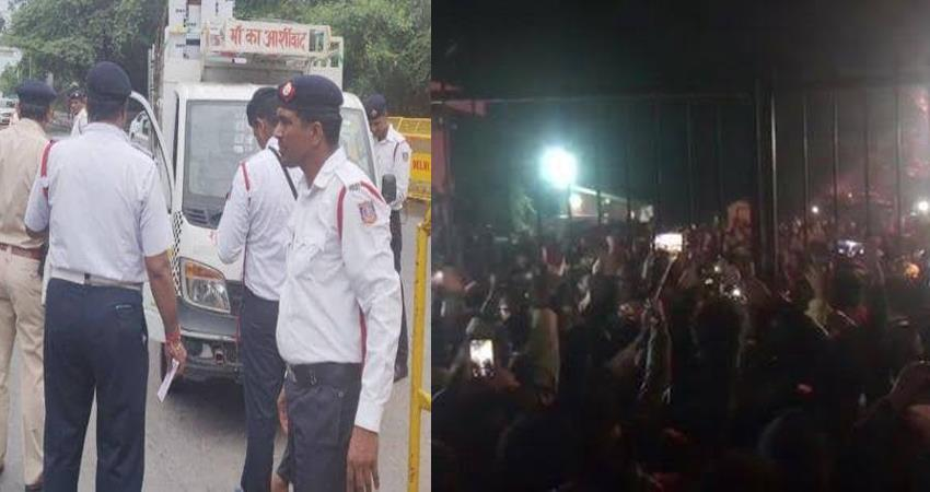 jnu violence jnu attack jnu president aishe ghosh abvp delhi traffic police