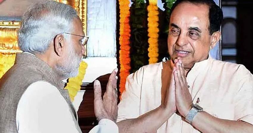 BJP MP Subramanian Swamy raised questions on Modi government says GST insanity