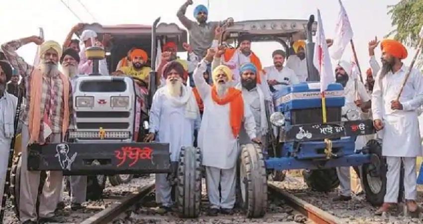 farmers protest live rail roko andolan sohsnt