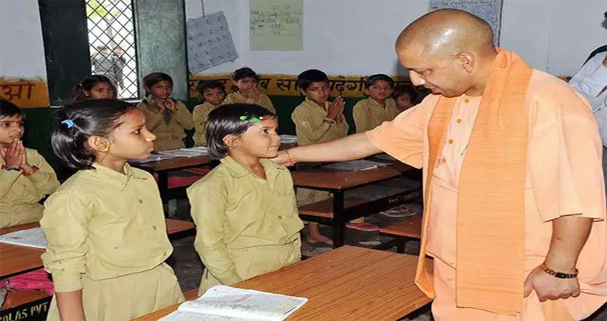 students of 1st to 8th grade reached next class without taking exams in up