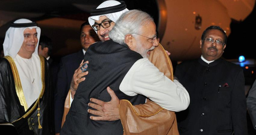 today prime minister modi will be honored with the highest civilian honor in the uae