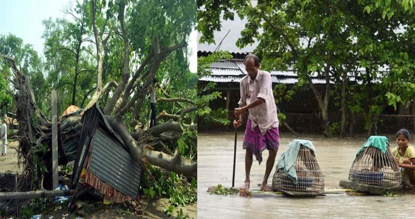 bihar and assam floods and rain woes water and thunder storm kill millions of lives