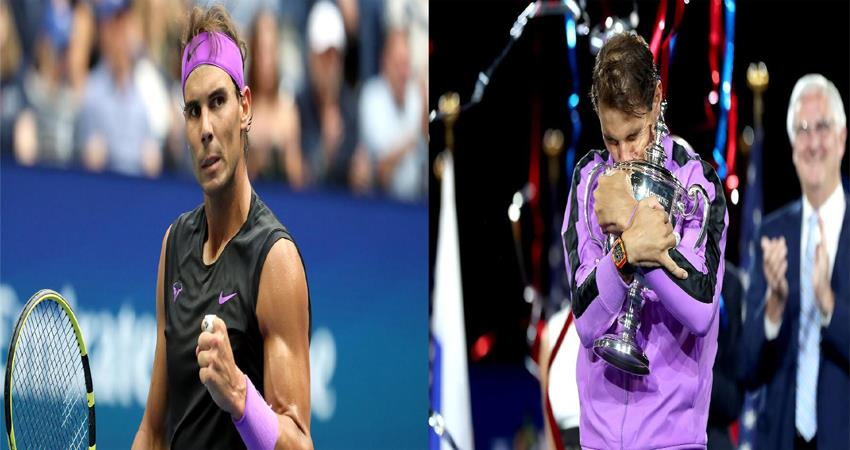 US Open 2019 Nadal wins US Open title for fourth time one step away from Federers record