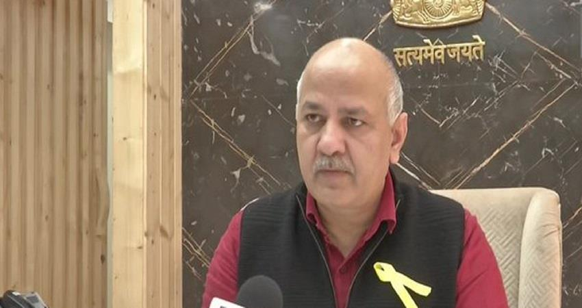 bjp protest at manish sisodia house viral video kmbsnt
