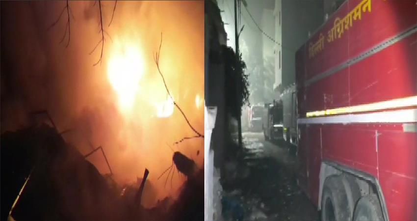 fire broke out 4 storey building peera garhi delhi