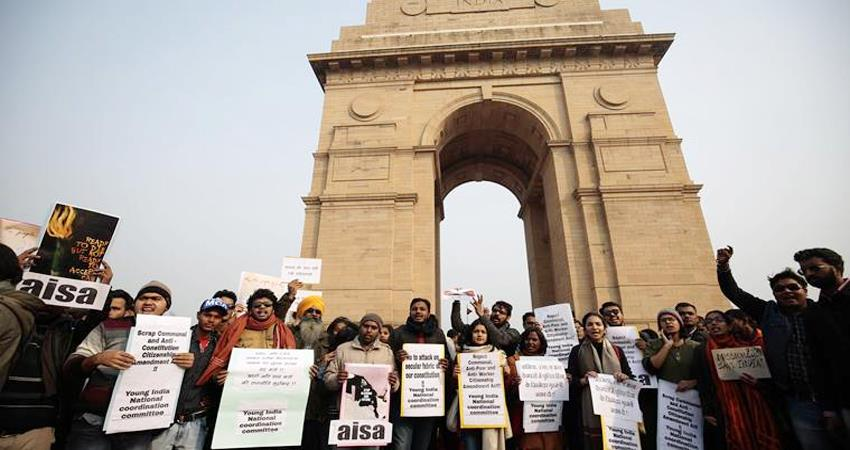 caa protest on first day of new year 2020 india gate