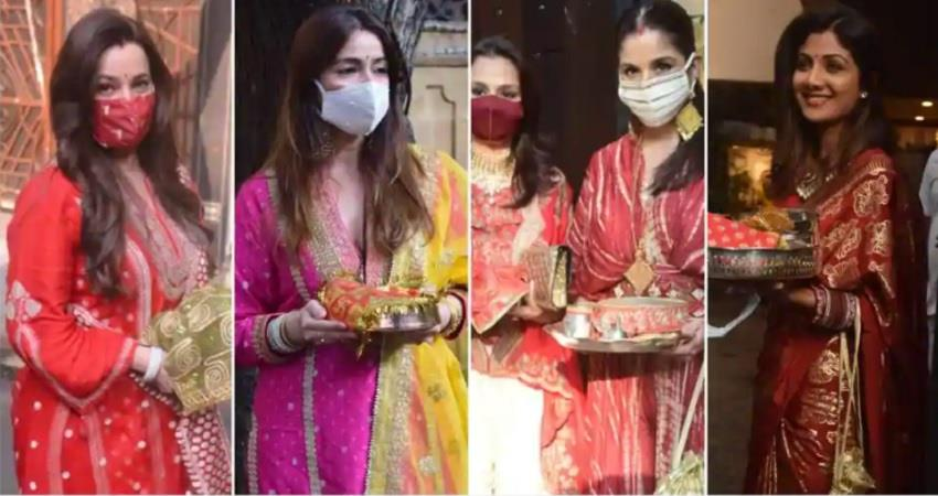 bollywood actresses karwachauth pictures jsrwnt