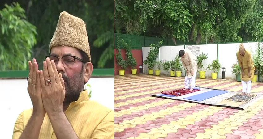 union minister mukhtar abbas naqvi wishes countrymen on bakrid prshnt