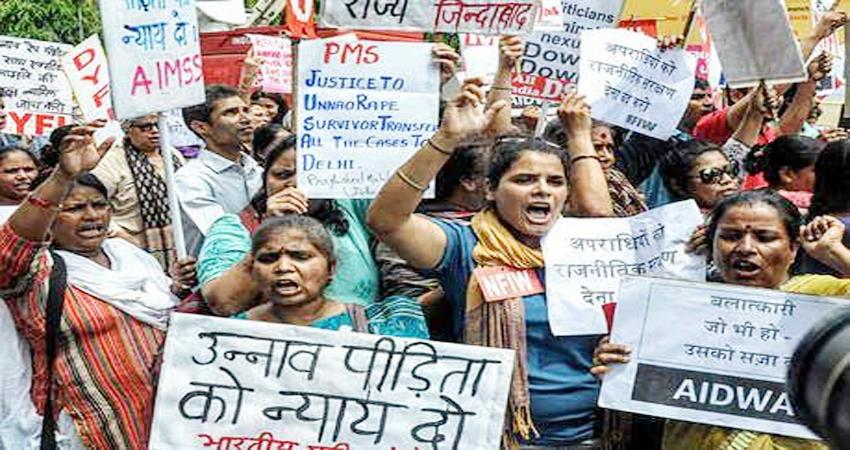 unnao rape case accused hanged the family of the victim demonstrated against other demands
