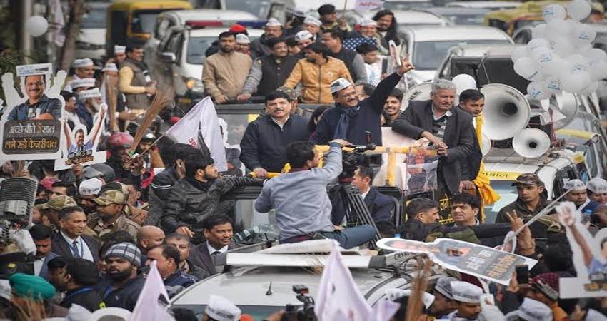 arvind kejriwal to hold 5 roadshows today delhi assembly elections 2020