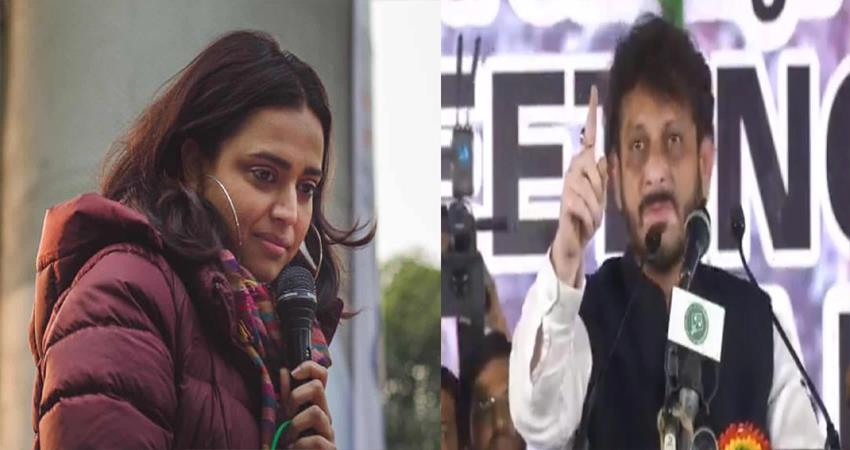 swara bhaskar slams on waris pathan communal statement
