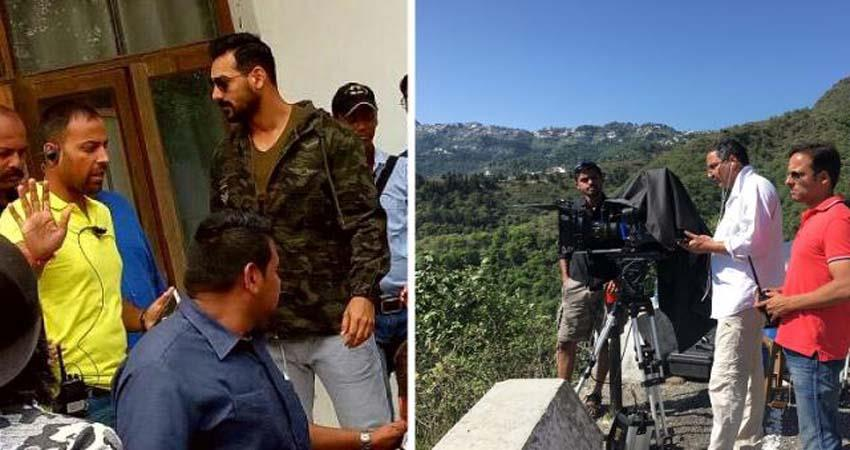 john-abraham-reached-mussoorie-for-baatla-house-shooting