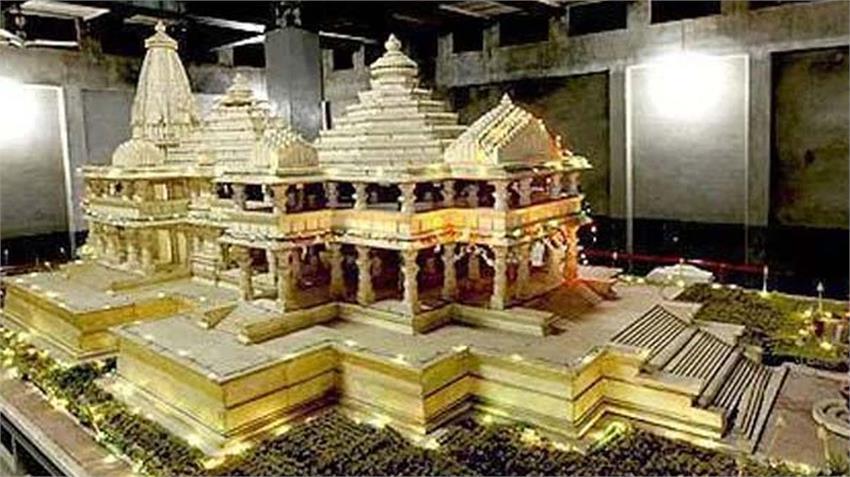 corona virus covid 19 havoc ram temple construction work continues ayodhya uttar pradesh