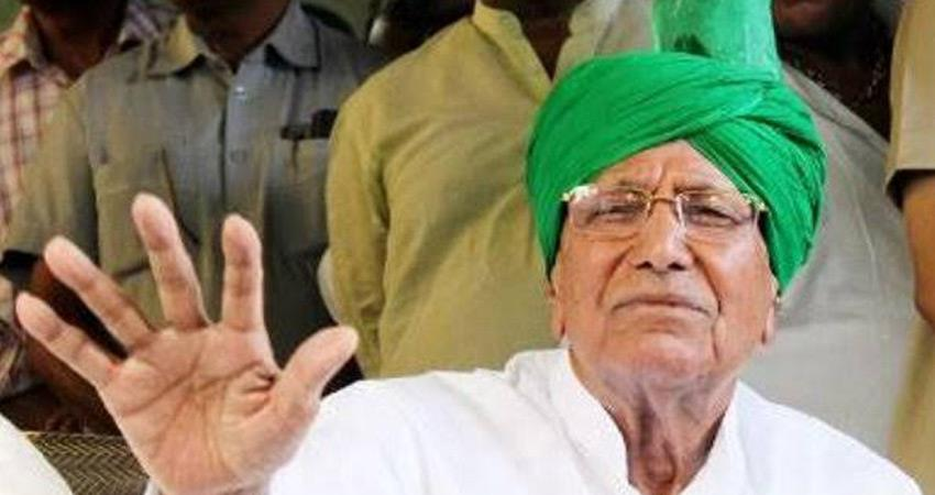 haryana om prakash chautala in sonipat over out on 14 days bail