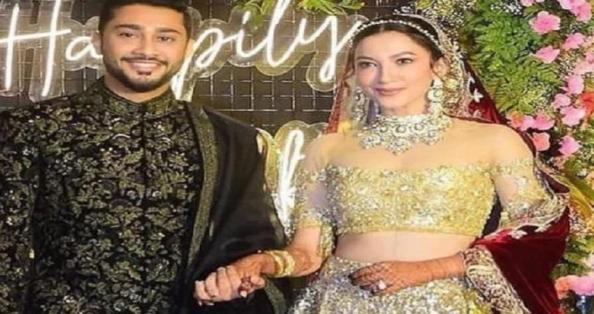 gauhar khan and zaid darbar wedding reception photos jsrwnt