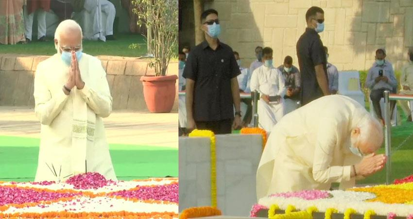 gandhi and lal bahadur shastri jayanti today birth anniversary leaders paid tribute prshnt