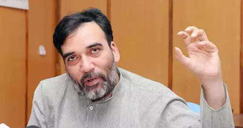 delhi environment minister gopal rai visit air quality monitoring station