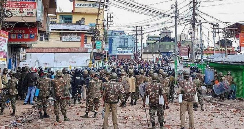 meghalaya police clashes over caa curfew in shillong and surrounding areas