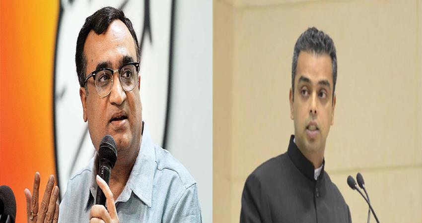 ajay maken milind deora twitter war aap kejriwal govt