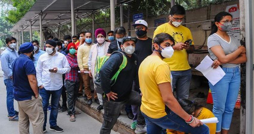 Coronavirus RML Hospital Delhi Patient in queue