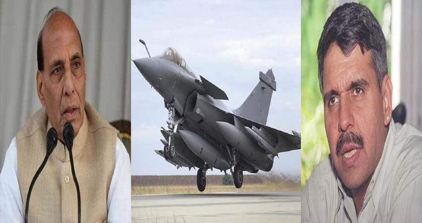 rafale controversy congress told drama on rajnath weapon worship of rafael