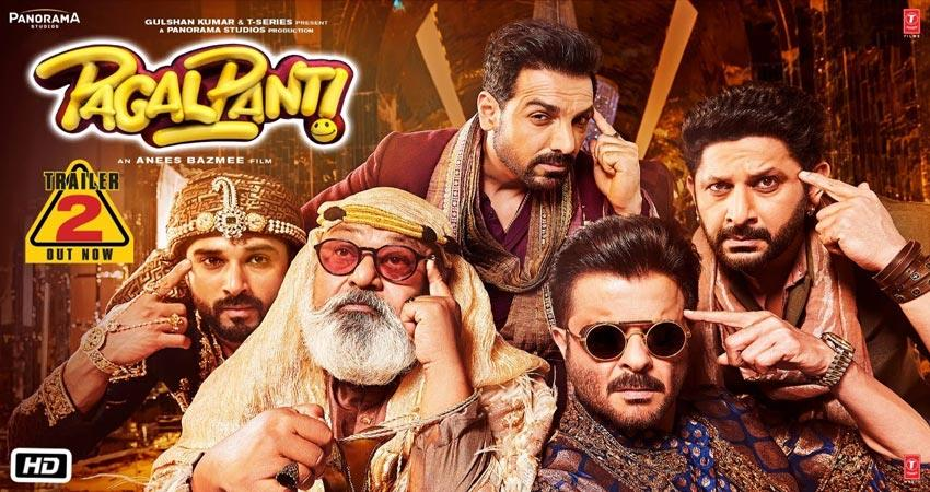pagalpanti second trailer release john arshad anil kapoor comedy