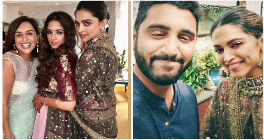 deepika padukone attends friends mehendi ceremony in banglore pictures viral