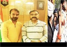 हाथरस में संजय सिंह पर स्याही फेंकने वाले को ADG का संरक्षण! AAP सांसद ने शेयर की तस्वीर
