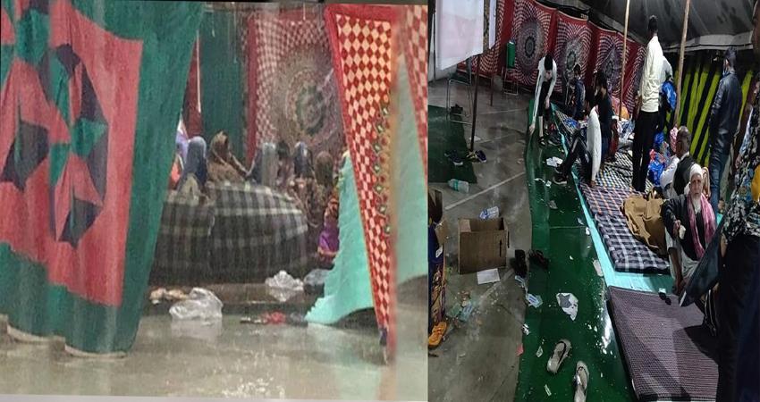 delhi riots victim in trouble due to rain