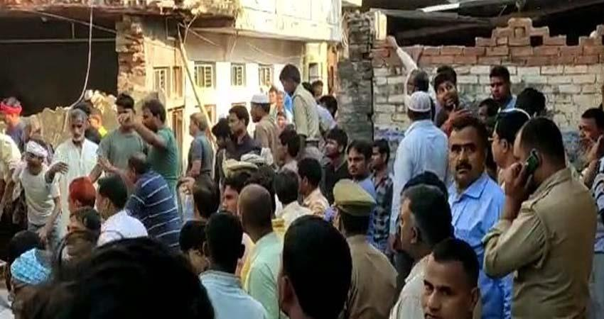 uttar pradesh cylinder blast in mohammadabad mau many injured