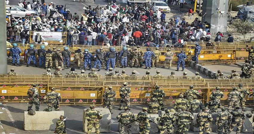farmers protest delhi borders delhi police traffic advisory kmbsnt