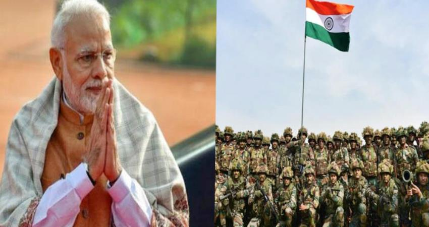 pm narendra modi and president ram nath kovind salutes soldiers on indian army day pragnt
