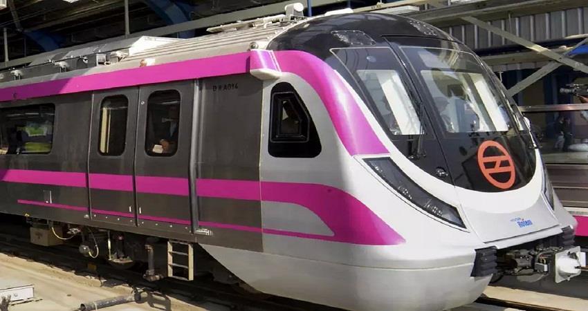 driverless delhi metro magenta line from 28th december kmbsnt