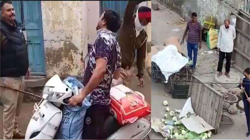 corona virus covid 19 havoc police goons punish labors people in delhi punjab uttar predesh